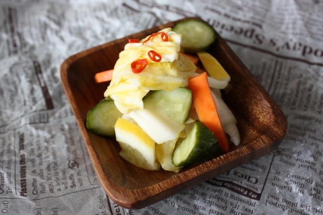 ピクルス 野菜 お漬物 白菜 キュウリ 人参 鷹の爪