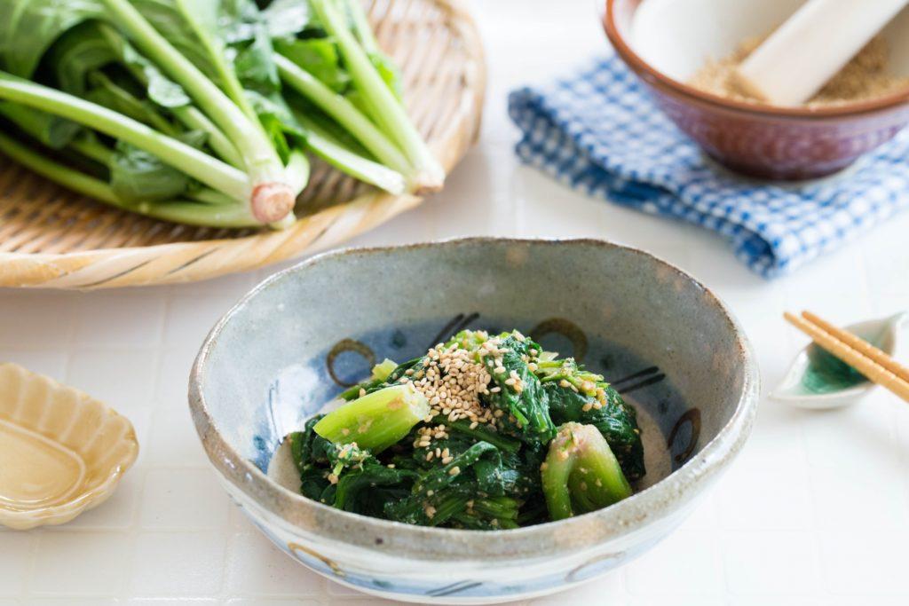 ほうれん草 胡麻和え 副菜 すりごま すり鉢