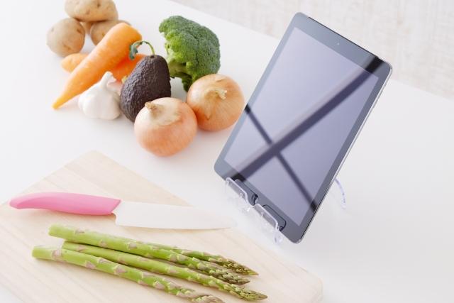 タブレット 食材 料理 ネットレシピ
