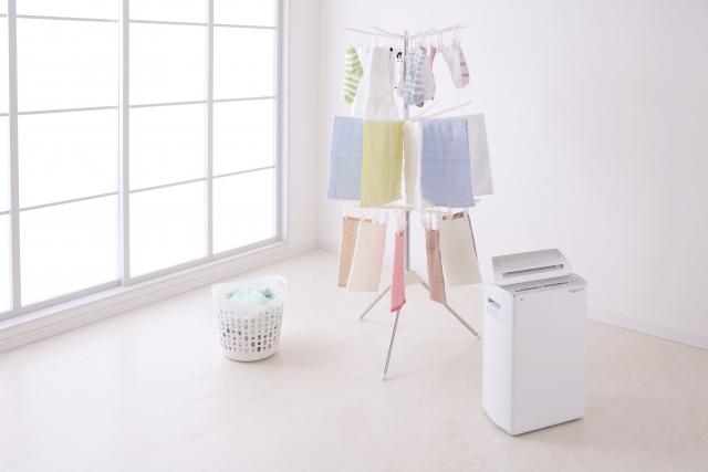 部屋干し タオル 洗濯 除湿機