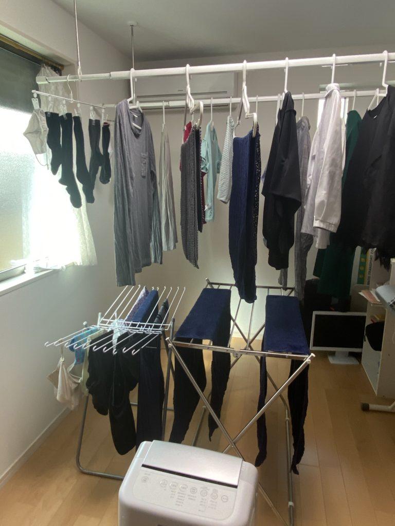 洗濯 部屋干し 除湿機 洗濯物