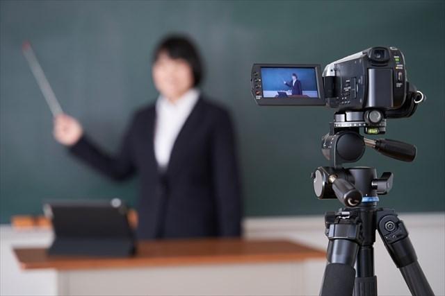 授業 オンライン 動画撮影 黒板