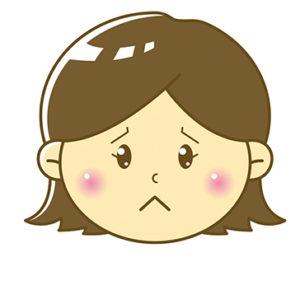 女の子悲しいイラスト