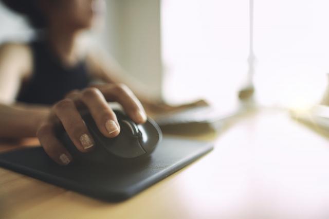 女性 仕事 パソコン テレワーク
