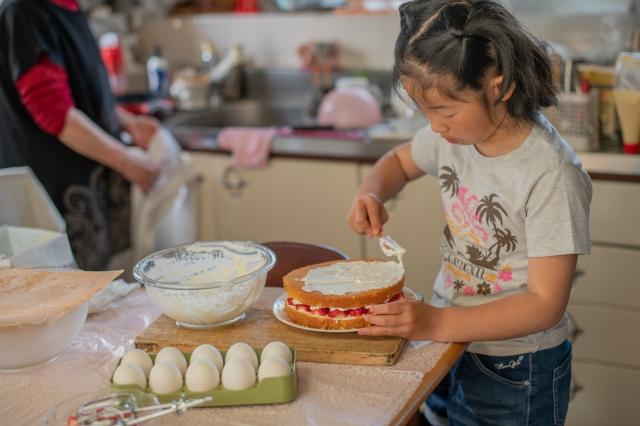子供 ケーキ作り 小学生 女の子